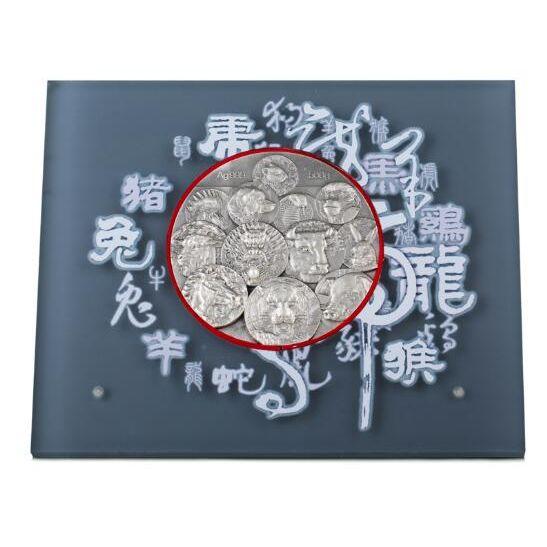 十二生肖高浮雕经典银