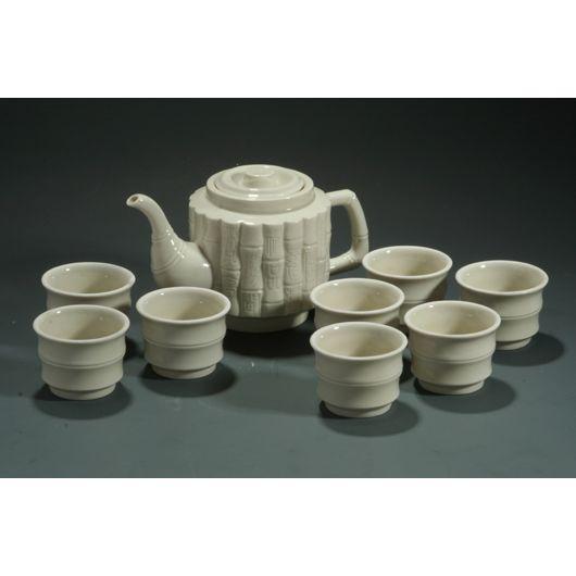 定窑白瓷茶具套件茶杯