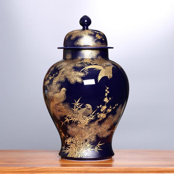 锦春纳福·霁蓝黄金将军