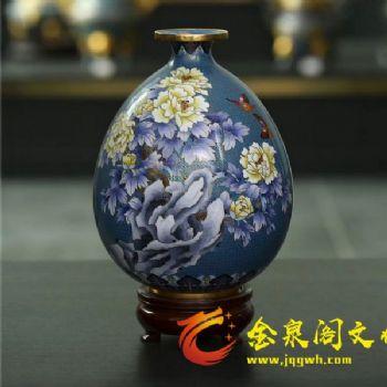 掐丝珐琅花开富贵瓶1