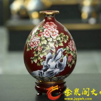 掐丝珐琅花开富贵瓶2
