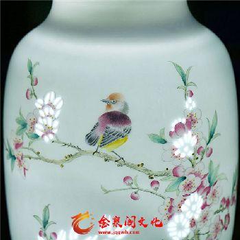 玲珑瓷满庭春对瓶4