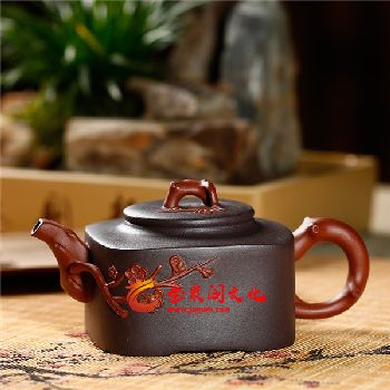 松竹梅紫砂茶具珍藏套组2